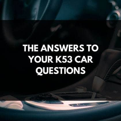 K53 Questions Answers